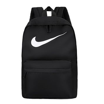 NIKE 2019 simple canvas new men and women backpack black