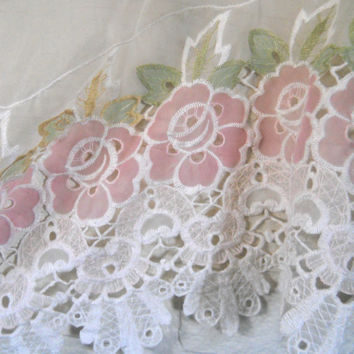 Sheer Valance Pink Valance Window Valance Bedroom Valance Curtain Valance Curtain Valence Floral Valance Cottage Valance Living Room Vintage