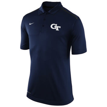 GA Tech Yellow Jackets Nike Elite Coaches Sideline Performance Polo – Navy Blue