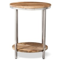 Berwyn Large round end table Metal and Wood - Threshold™