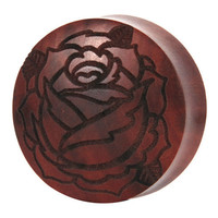 UK Custom Plugs — Rose Saba Wood Plug
