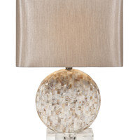 Classy Whitney Mother of Pearl Lamp