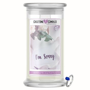 I'm Sorry | Jewelry Greeting Candle