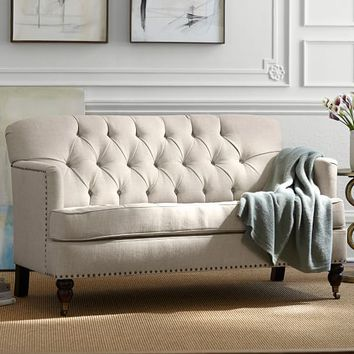 TUDOR UPHOLSTERED MINI SOFA