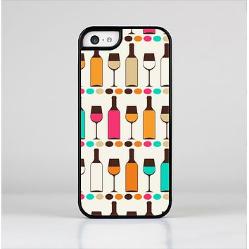 The Vectored Color Wine Glasses & Bottles Skin-Sert Case for the Apple iPhone 5c