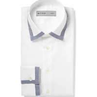 Etro - Slim-Fit Contrast-Trim Cotton Oxford Shirt | MR PORTER
