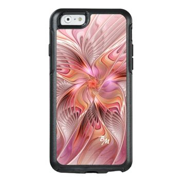 Abstract Butterfly Colorful Fractal Art Monogram OtterBox iPhone 6/6s Case