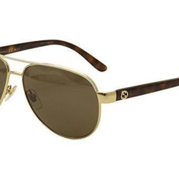 Gucci Sunglasses 4239 / Frame: Ivory Lens: Bronze Polarized
