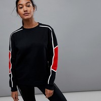 South Beach Stripe Sweat at asos.com