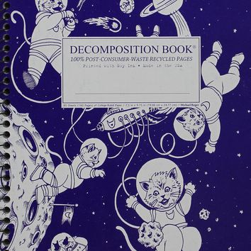Kittens in Space Coilbound Decomposition Book Ruled NTB SPI