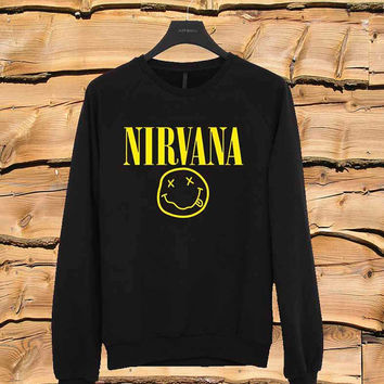Nirvana sweater Sweatshirt Crewneck Men or Women Unisex Size