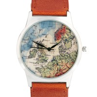 River Island | River Island Globe Print Watch at ASOS