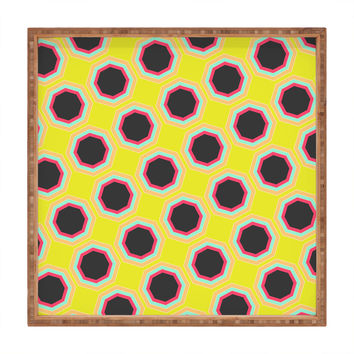 Allyson Johnson Neon Pattern Square Tray