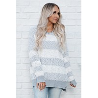 So Lost Hooded Sweater (Grey)