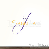 Personalized Childrens Name Decor or Nursery Monogram Vinyl Lettering Vinyl Wall Decal-