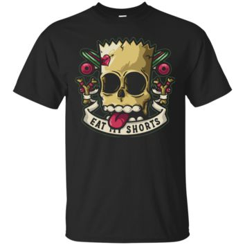 Bart Simpson Skull Men's or Ladies Tee Shirt