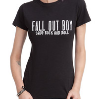 Fall Out Boy Save Rock And Roll Girls T-Shirt | Hot Topic