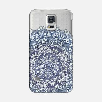 Indigo Medallion with Butterflies & Daisy Chains - transparent Galaxy S5 case by Micklyn Le Feuvre | Casetify