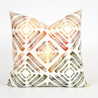 Decorative Throw Pillow Cover. Unique Pillow Cover. Decorative Cushion Cover. Tribal Home Decor. Colourful Cushion. Abstract Throw Pillow