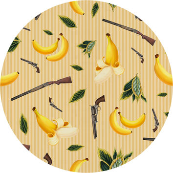 Wild West Gone Bananas Circle Wall Decal