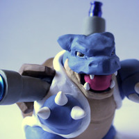 Blastoise Pipe / MADE to ORDER / Pokemon / Polymer Clay Sculpture / Tobacco Hand Pipe