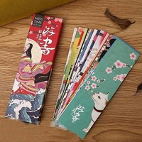 30Pcs/lot Cute Kawaii Paper Bookmark Vintage Japanese Style Book Marks For Kids School Materials