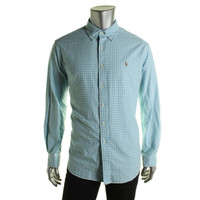 Polo Ralph Lauren Mens Checkered Classic Fit Button-Down Shirt
