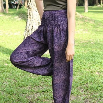 Hippie pants Aladdin Pants/hippie clothes/beach pants/Yoga pants/Harem pants/Meditation pant/flower pants/boho pants/gypsy pants