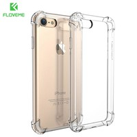 FLOVEME For iPhone 7 Plus Case Luxury Shockproof Armor Cases For iPhone X iPhone 8 Plus Gasbag Clear Phone Accessories Cover