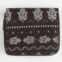Hamsa Small Wallet Black/White One Size For Women 26289812501