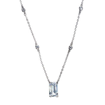 Modern Emerald Cut Necklace