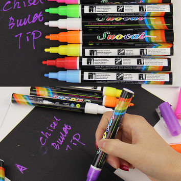 1 pcs Highlighter Liquid Chalk Marker Pens For School Art Painting 8 Colors Round Chisel Tip 3mm School Supplies