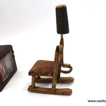 1970s Rocking Chair TV and Lamp Dollhouse Furniture
