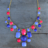 Maryanne Violet Jewel Stament Neckace