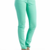 color skinny jeans $27.60 in LTTURQUOISE MINT ORANGE WHITE - New Shoes | GoJane.com