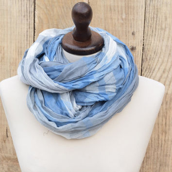 Blue Plain Scarf Unisex , Tartan Scarf, Fall Winter Man Scarf, Shawl Plaid, Cowl Men, Gift For Her, Gift For Him, Man Fashion, Winter Women
