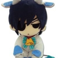 """Great Eastern GE-8999 Butler Ciel Cow Cosplay Plush Toy, 7"""", Black"""