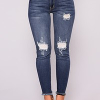 Vasilika Ankle Jeans - Dark Denim