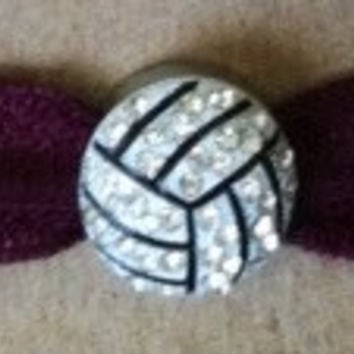 Volleyball Charm Hair Tie---You Pick Color Hair Tie