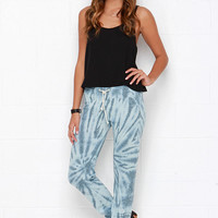 Obey Lola Blue Tie-Dye Sweatpants