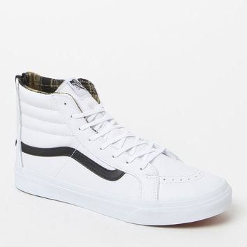 Vans Women's Plaid Flannel SK8-Hi Slim Zip Sneakers at PacSun.com