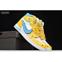 SpongeBob x Air Jordan 1 AJ1 Sneaker Shoes