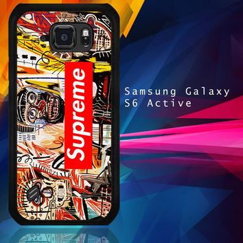 Supreme To Release Collection Featuring Basquiats V1635 Samsung Galaxy S6 Active  Case