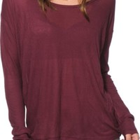 Empyre Darla Burgundy Ribbed Top