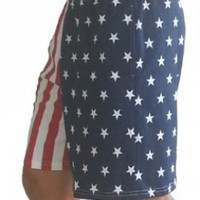 F600 Flag Shorts in American Flag Short Pattern