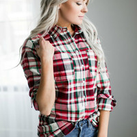 Plaid Popover - Holiday
