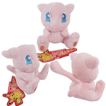 Pokemon plush mew plush toy figures Toys big 13cm Soft Stuffed Anime Cartoon Dolls Free Shipping