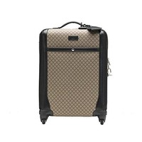Gucci Men's Wheel Black Supreme Canvas Carry-On Suitcase Luggage 293909