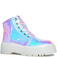 YRU SLAYR Atlantis Platform Rave Shoes