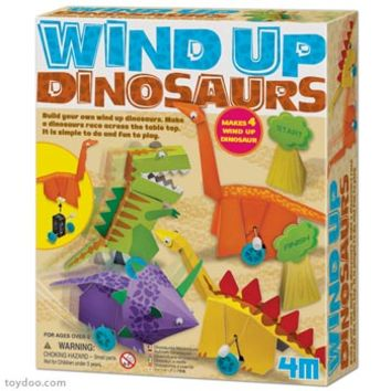 4M Wind Up Dinosaurs Making Kits - Toysmith - Pack of 6 kits